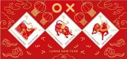 Christmas Island Stamps 2021 SG MS962 Chinese New Year (Year of the Ox) miniature sheet